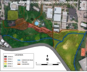 Planejamento por zonas energéticas da permacultura.